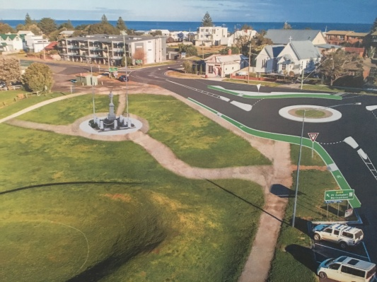 Vicroads concept plan for futre of GOR -Nelson Street intersection and War Memorial