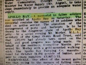 the argus 1922